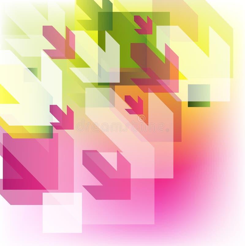 五颜六色箭头的背景 向量例证