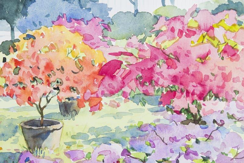 绘五颜六色纸花和情感在蓝色背景中 库存例证