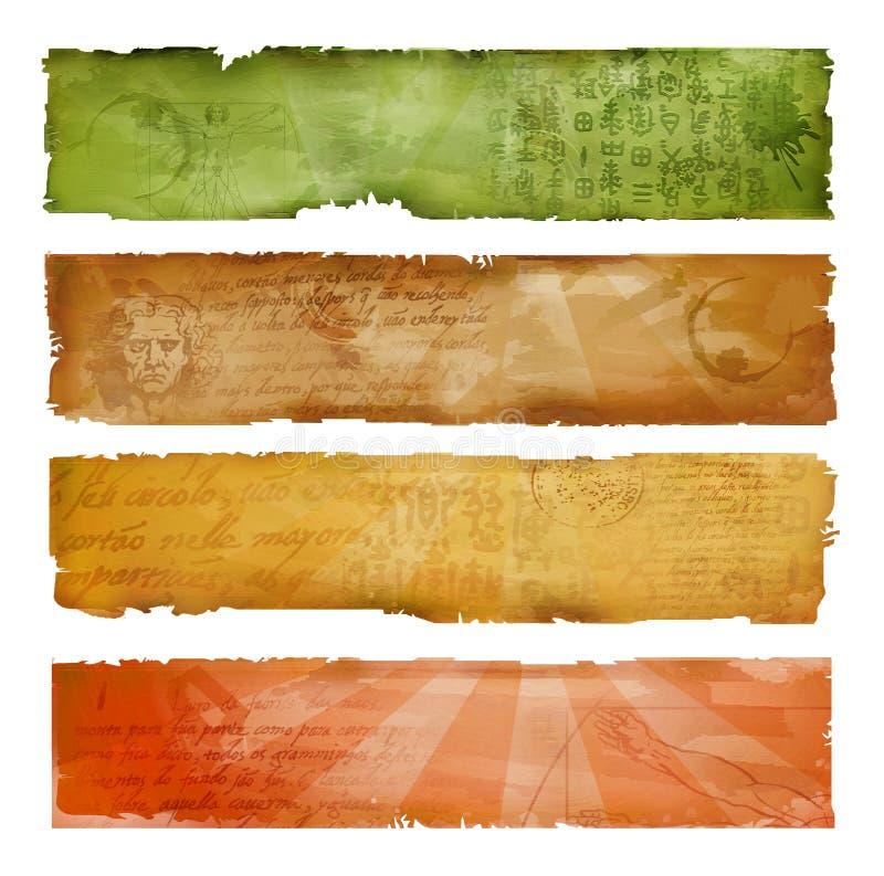 五颜六色艺术性的横幅 库存例证