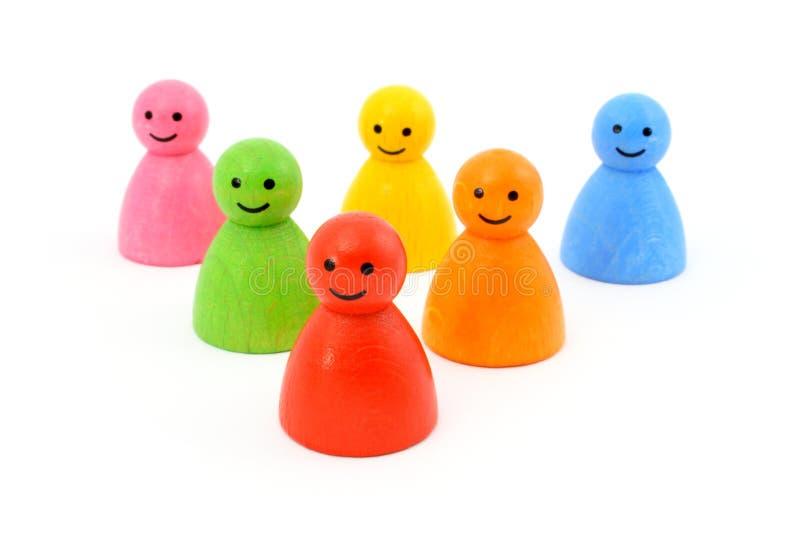 五颜六色赌博部分微笑 免版税库存图片