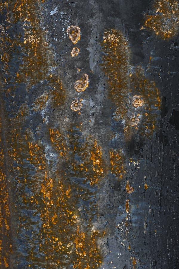 五颜六色铁锈老铁破裂的油漆 库存图片