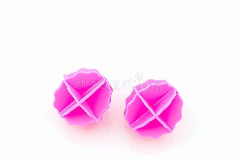 五颜六色洗涤的球,塑料球 库存照片