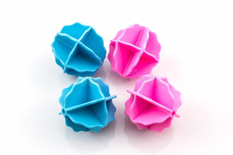 五颜六色洗涤的球 库存照片