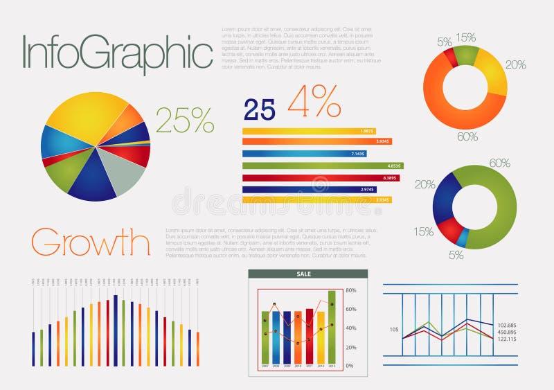 五颜六色infographic现代 库存例证