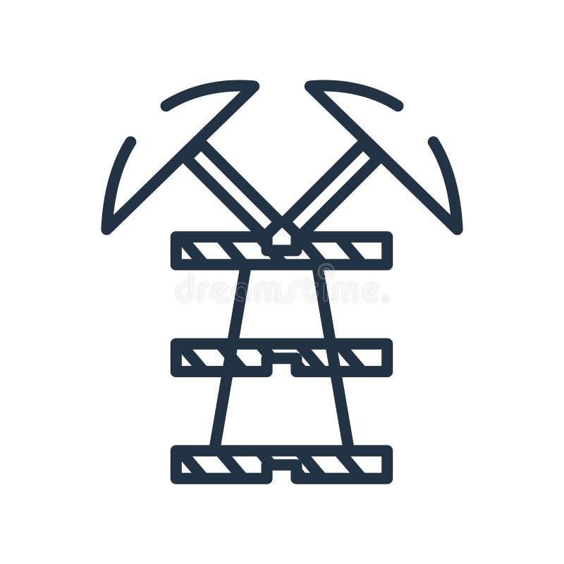 井架在白色背景隔绝的象传染媒介,井架标志 库存例证