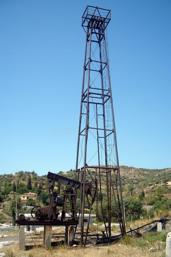 井架在阿尔巴尼亚 库存照片