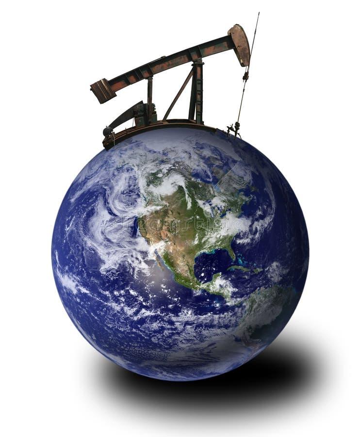 井架地球油 免版税库存图片