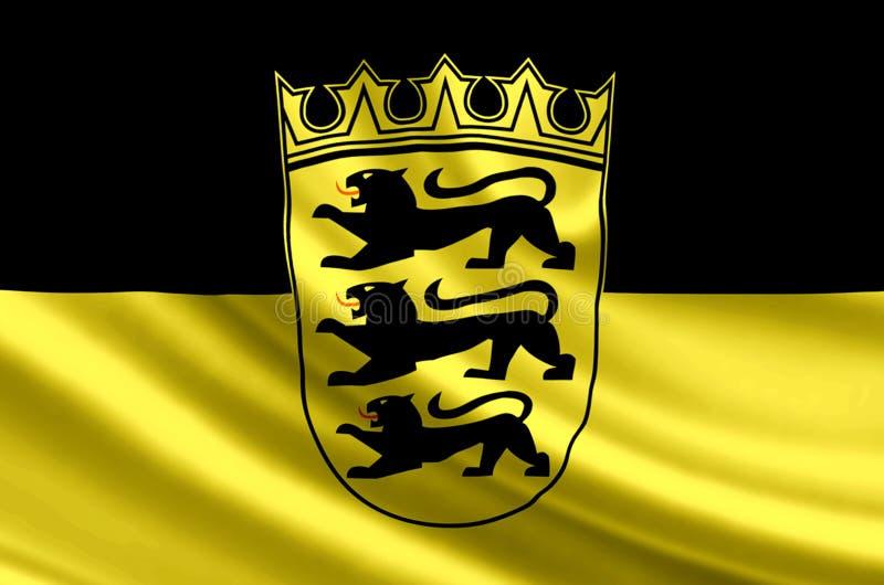 亚丁乌特姆博格德国旗子例证 向量例证