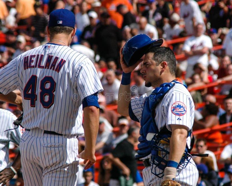 亚伦海尔曼和保罗LoDuca, Ny Mets 免版税库存照片