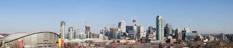 亚伯大卡尔加里加拿大市地平线 库存图片