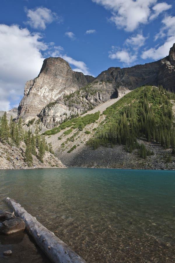 亚伯大banff湖冰碛国家公园 库存照片