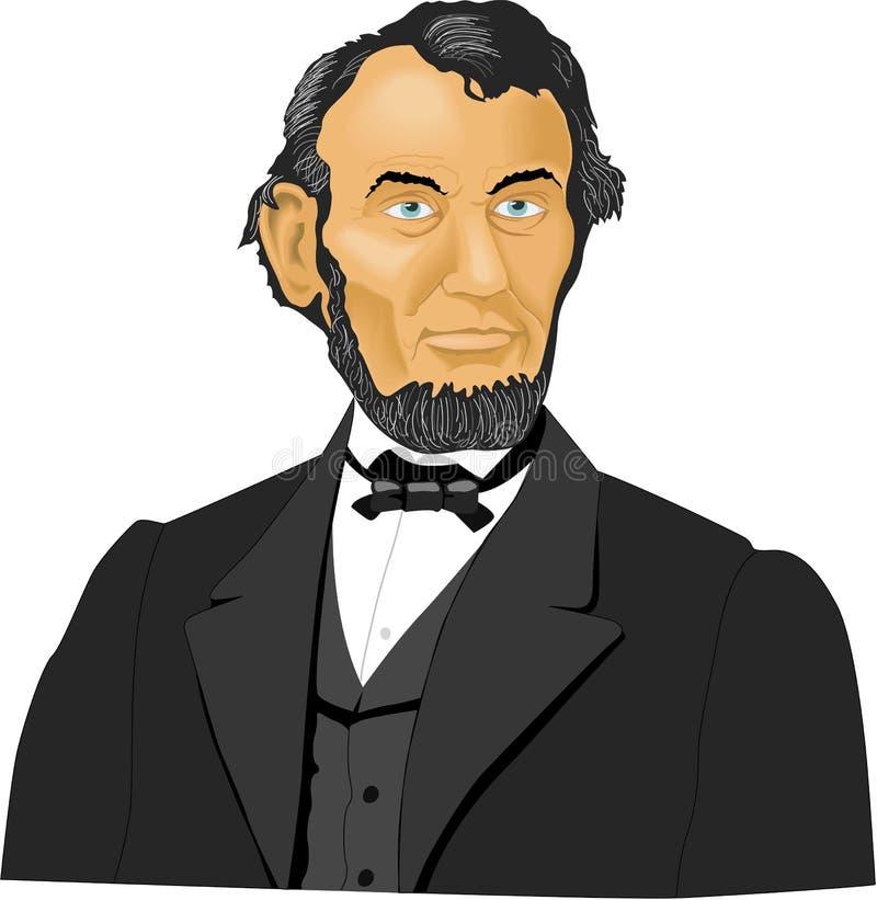 亚伯拉罕・林肯传染媒介例证 库存例证