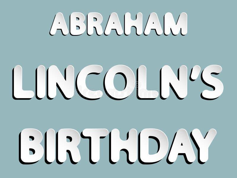 亚伯拉罕・林肯生日 库存例证