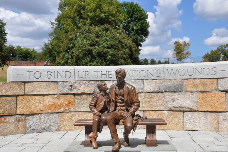 亚伯拉罕・林肯雕象在里士满,弗吉尼亚 库存图片