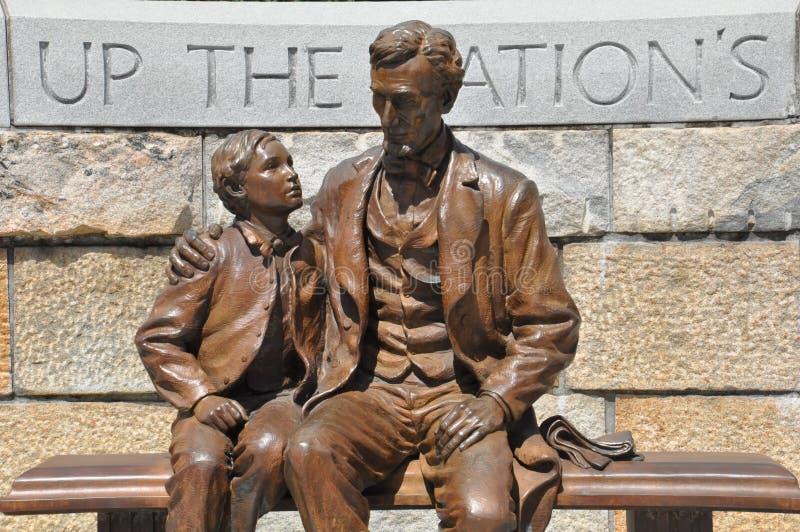 亚伯拉罕・林肯雕象在里士满,弗吉尼亚 免版税库存图片