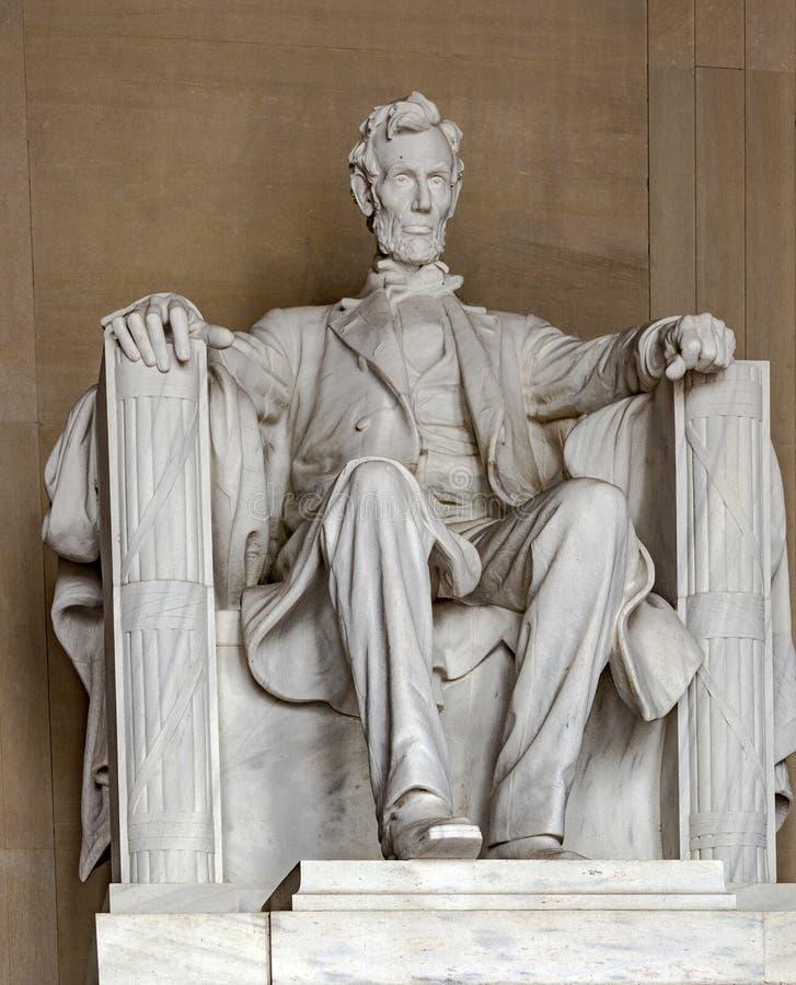 亚伯拉罕・林肯雕象林肯纪念堂的 免版税库存照片