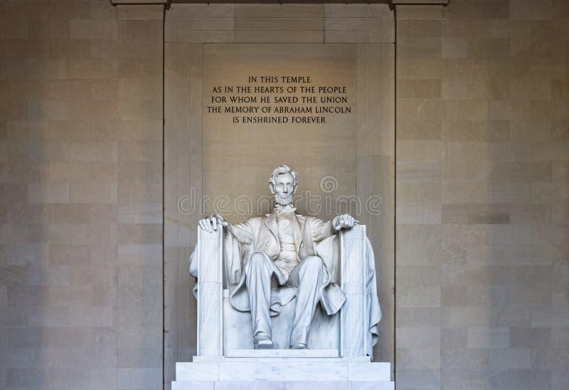 亚伯拉罕dc林肯纪念品华盛顿 库存照片