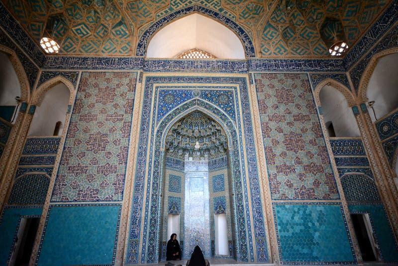 亚兹德盛大清真寺,亚兹德,伊朗 免版税库存图片