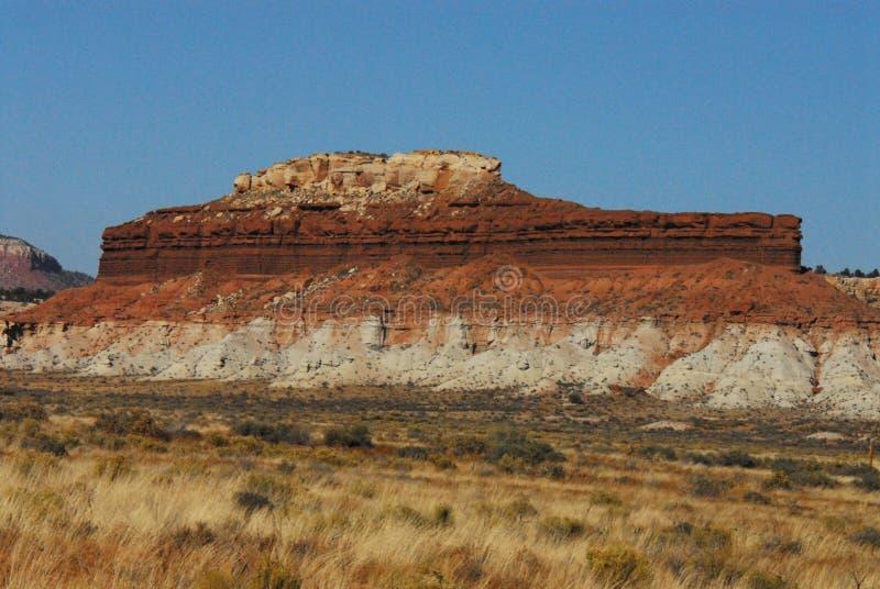 亚利桑那一座独特的平顶的山 免版税库存照片
