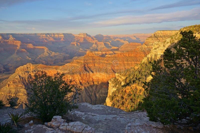 亚利桑那大峡谷国家公园沙漠风景 免版税图库摄影