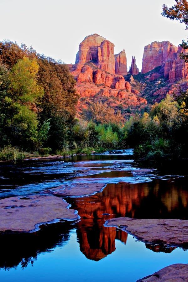 亚利桑那大教堂岩石sedona 库存照片
