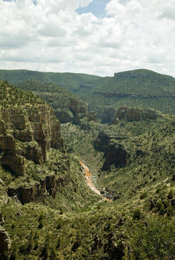 亚利桑那峡谷河s盐 免版税库存图片