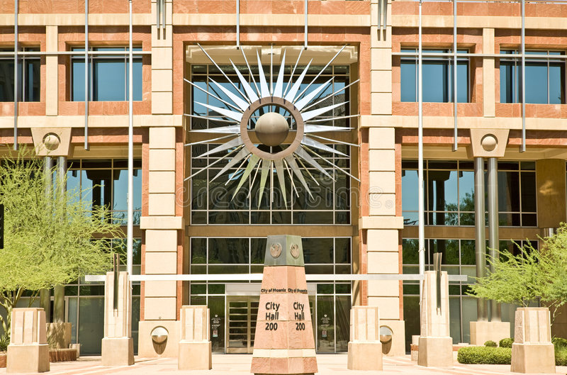 亚利桑那市政厅新的菲尼斯 免版税库存图片