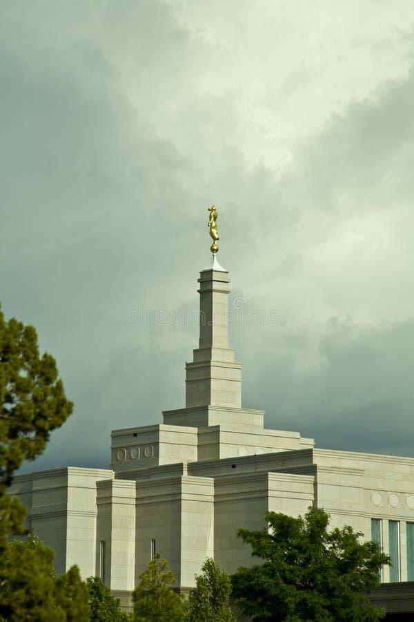 亚利桑那摩门教雪花寺庙 免版税图库摄影
