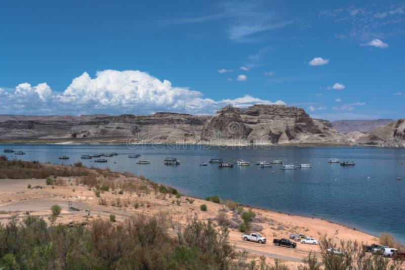 亚利桑那湖powell 免版税库存图片
