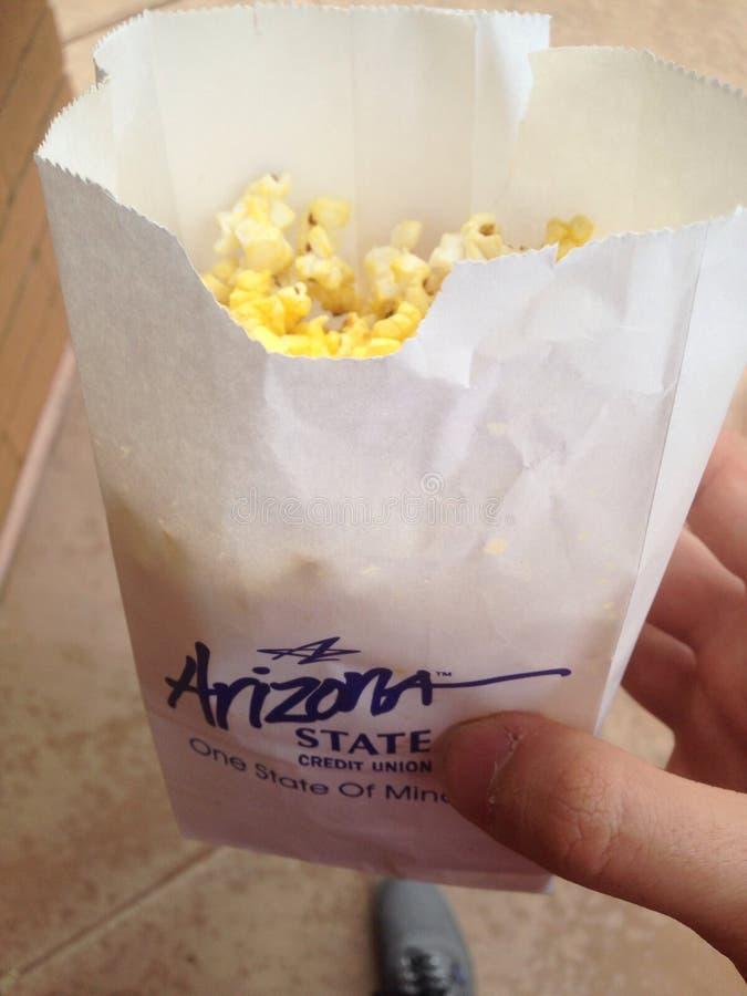 亚利桑那状态信贷协会玉米花 库存图片