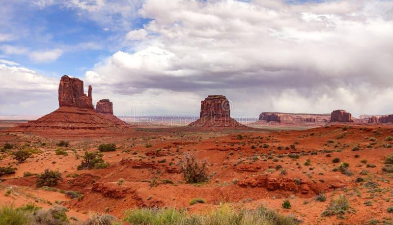 亚利桑那犹他边界的纪念碑谷部族公园,美国 免版税图库摄影