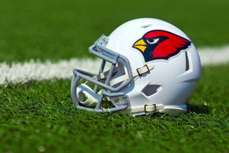 亚利桑那红雀美国橄榄球联盟盔甲 免版税库存照片