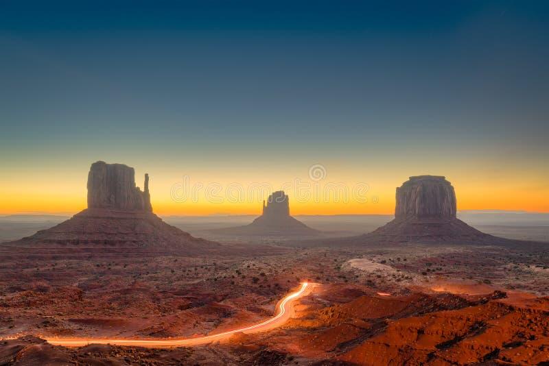 亚利桑那纪念碑美国谷 库存照片