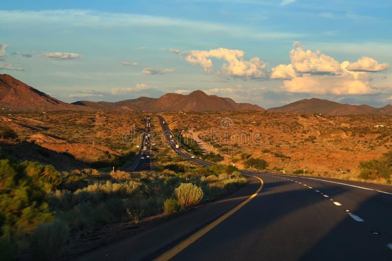 亚利桑那街路线到大峡谷 免版税库存图片