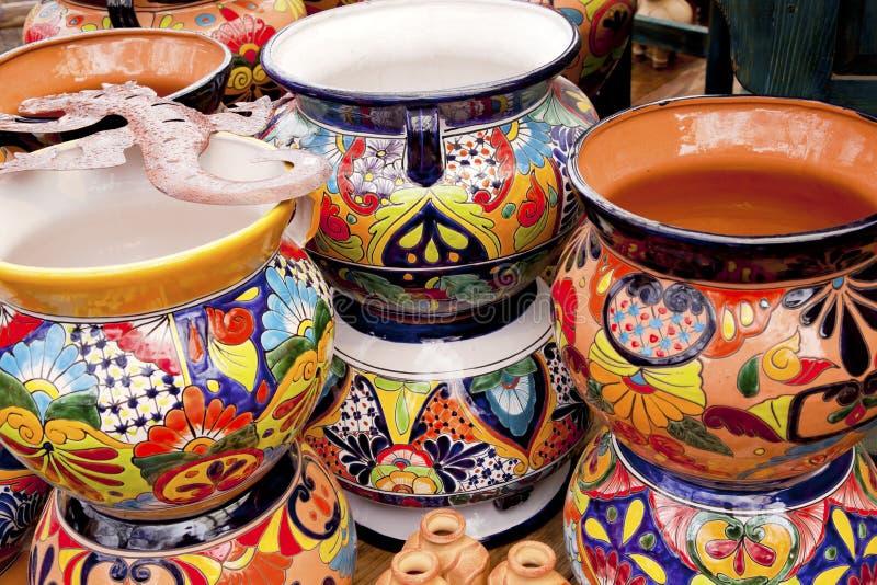 亚利桑那陶瓷墨西哥罐sedona纪念品 免版税库存照片