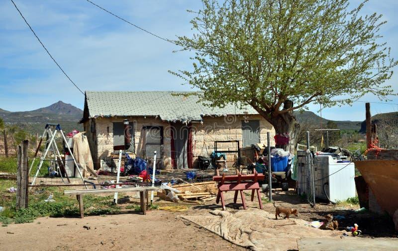 亚利桑那,圣卡洛斯亚帕基保留:亚帕基家庭的家 库存照片