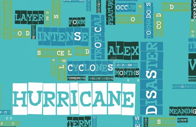 亚历克斯飓风 向量例证