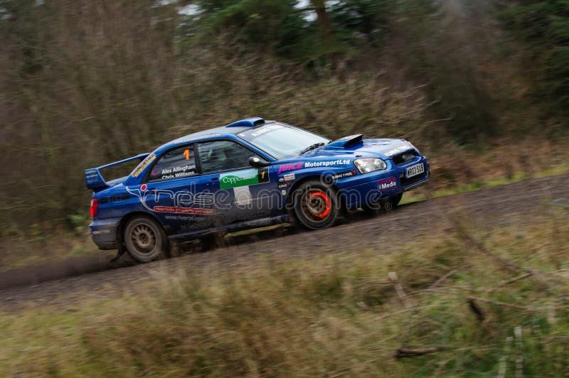 亚历克斯Allingham - Subaru Impreza 免版税图库摄影