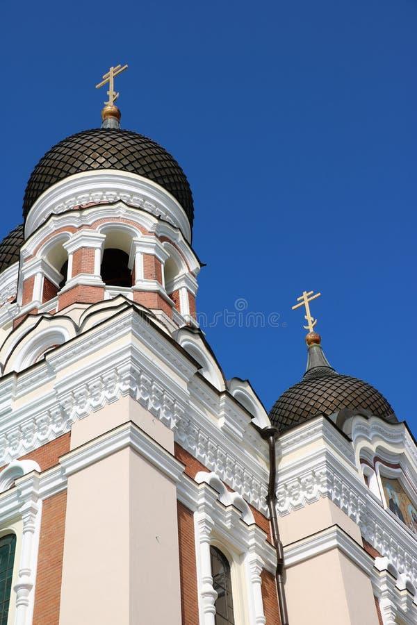 亚历山大・涅夫斯基大教堂,塔林,爱沙尼亚 免版税库存照片