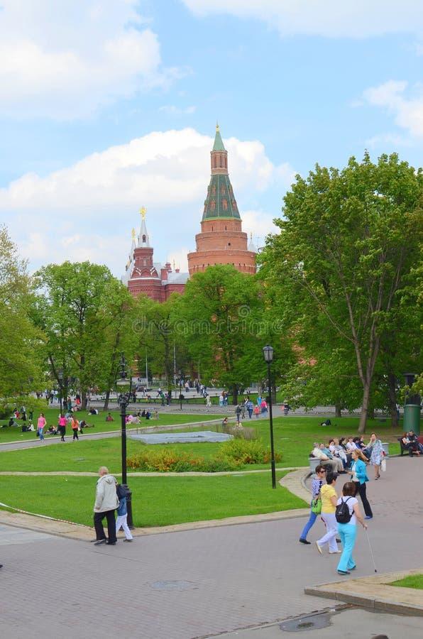 亚历山大公园,莫斯科,俄罗斯 免版税图库摄影