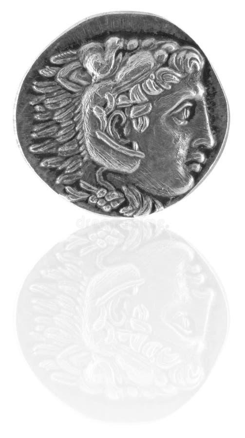 亚历山大古老巨大希腊tetradrachm 免版税库存图片