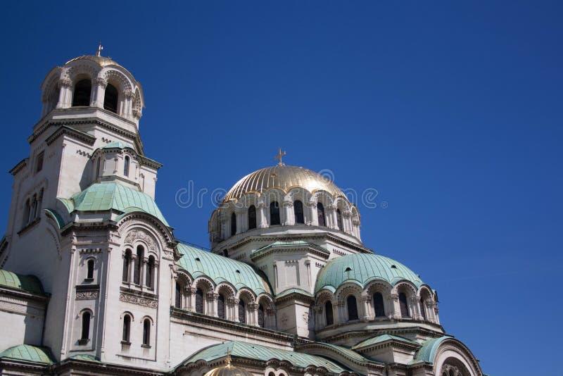 亚历山大大帝的涅夫斯基的教会 免版税库存照片