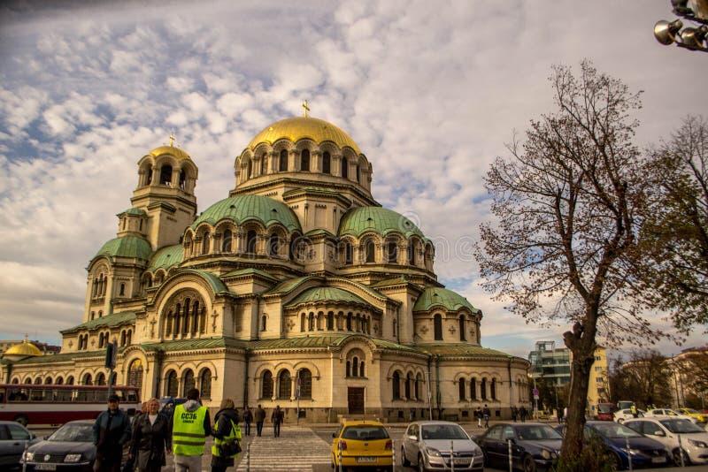 亚历山大大教堂nevsky索非亚 免版税库存照片