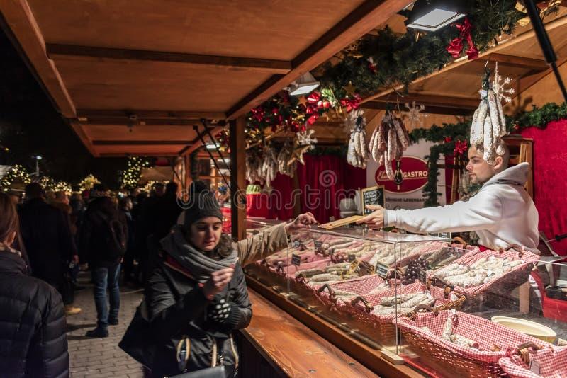 亚历山大广场圣诞节市场,柏林 库存照片
