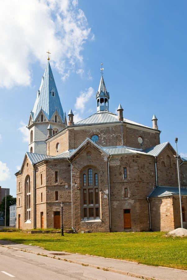 亚历山大教会爱沙尼亚路德教会的narva s 库存照片