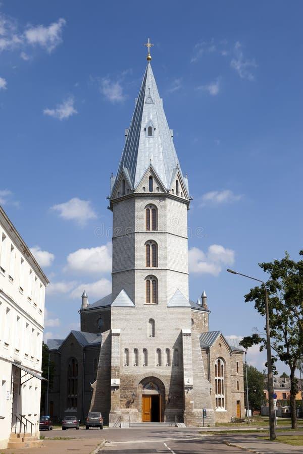亚历山大教会爱沙尼亚路德教会的narva s 免版税库存照片