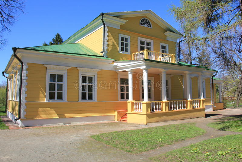 亚历山大・谢尔盖耶维奇・普希金家博物馆。 免版税图库摄影