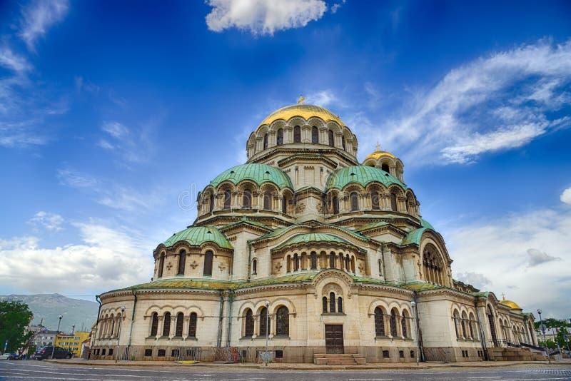亚历山大Nevski大教堂在索非亚,保加利亚 库存照片