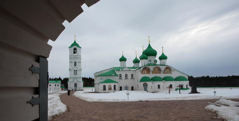 亚历山大Svirsky正统修道院 图库摄影