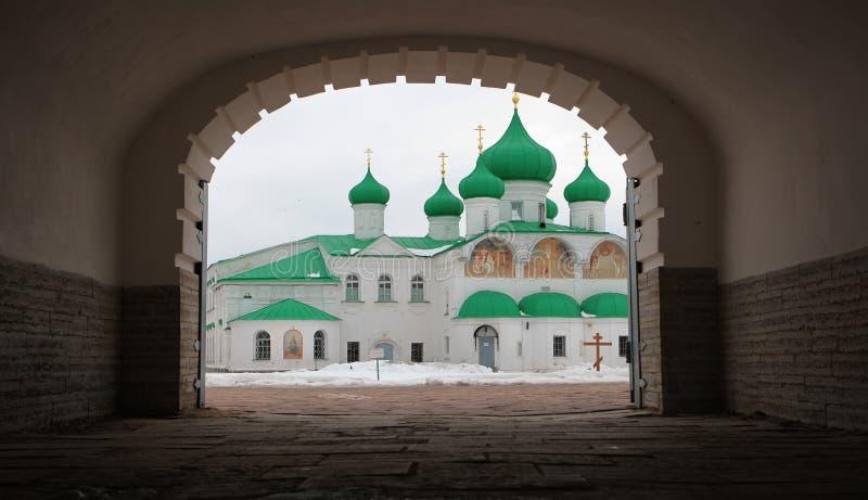 亚历山大Svirsky正统修道院 免版税库存照片